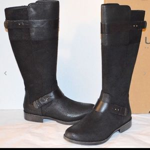 UGG Dayle Black Leather Boots